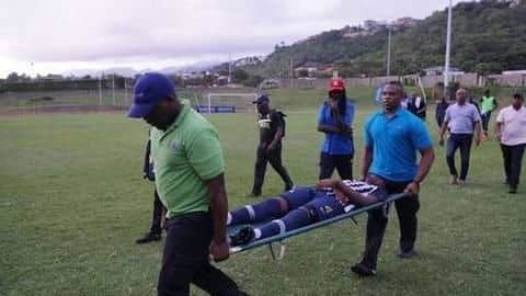 Two players sent to hospital after lightning strikes football match