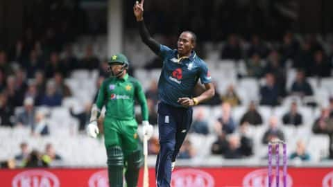 2019 World Cup: Jofra Archer included in England's squad