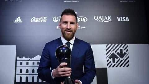 Lionel Messi wins best men's player of the year award