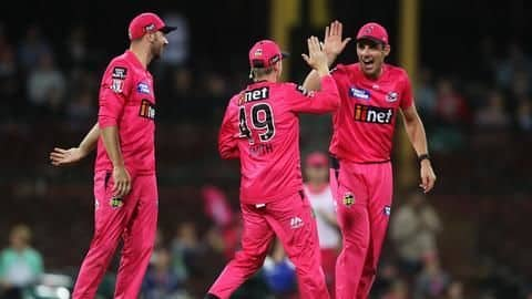 BBL 2019-20 final: Sydney Sixers lift title in rain-curtailed match
