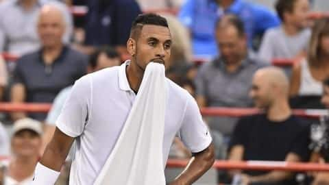 WATCH: Nick Kyrgios blasts referee, smashes racquets in Cincy loss