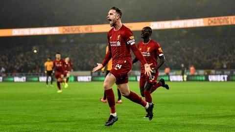 Premier League 2019-20: Key numbers from Liverpool's win against Wolves