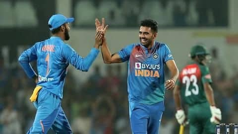Sensational Deepak Chahar bags second hat-trick in three days