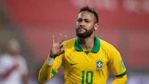 Neymar moves second behind Pele in Brazil's all-time scorers list