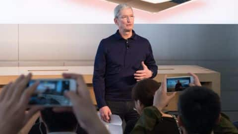 Trump claims to have spoken to Tim Cook