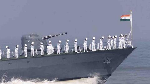 Toppling of Navy warship kills 2, injures 14