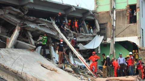 Building collapses in Hyderabad- 1 dead