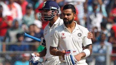 India finish day four with a 51 run lead