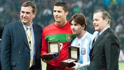 Lionel Messi and Cristiano Ronaldo only winners of the award