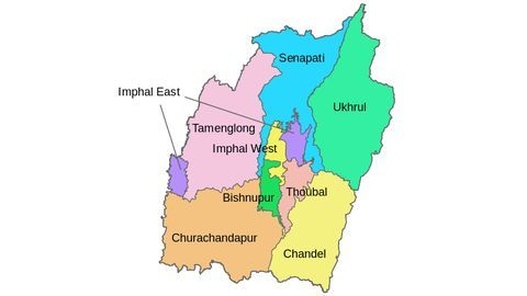 Manipur government's announces creation of 7 new districts