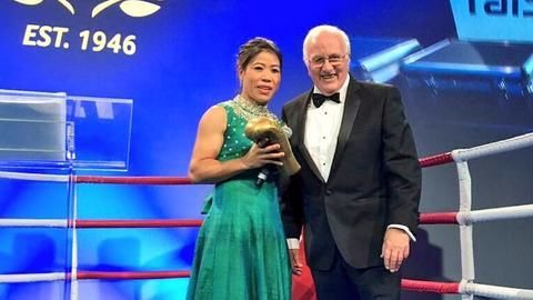 Mary Kom honoured with 'Legends Award' by the AIBA