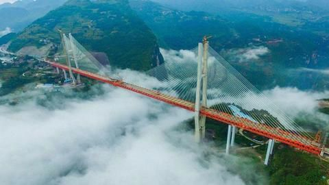 World's highest bridge in China: Beipanjiang Bridge
