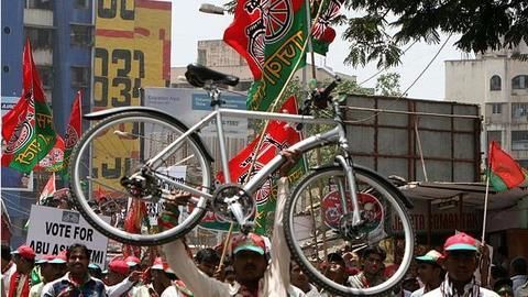 The eventful ride of Samajwadi Party's cycle symbol