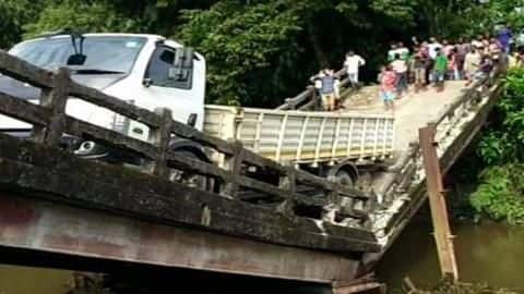 Another bridge collapses in West Bengal, truck driver injured