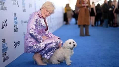 Hollywood actress Glenn Close's dog steals limelight at awards show