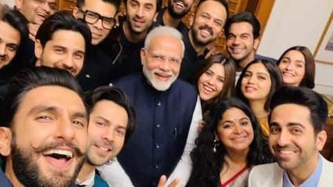 People are loving these pictures of PM with Bollywood celebrities