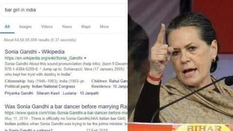 Google 'bar girl in India' and Sonia Gandhi's images appear