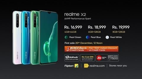 Realme X2, and its truly-wireless earphones launched in India