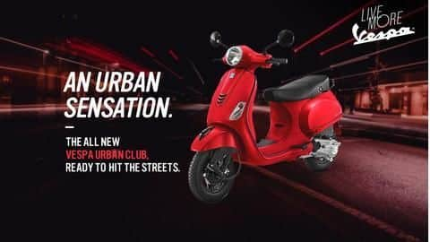 Vespa Urban Club 125cc launched in India at Rs. 74,000