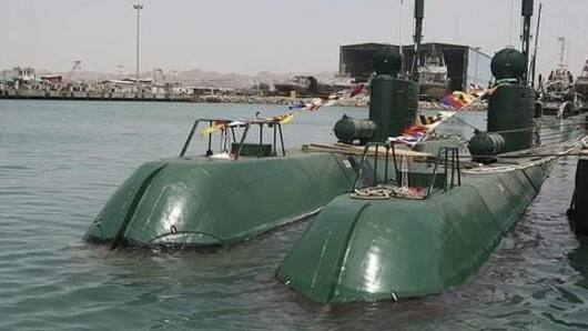Iran launches submarine, capable of firing cruise missiles
