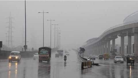 Delhi's air improves after rainfall but remains 'very poor'