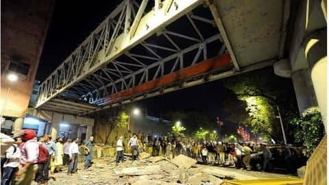 BMC brings down remaining part of damaged overbridge