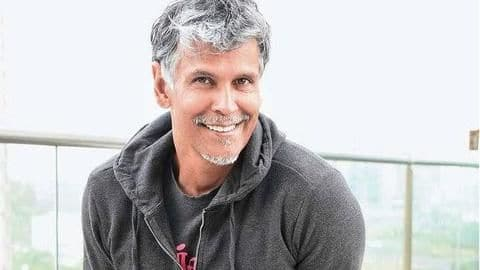 53-year-old Milind Soman runs underwater with 12 kg backpack