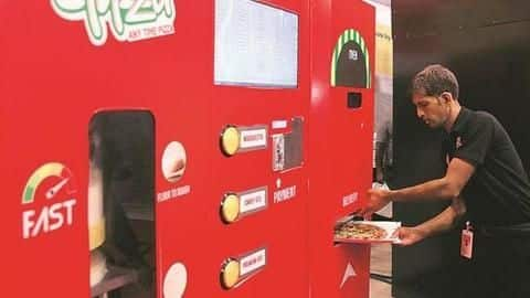 IRCTC installs first-ever Pizza Vending Machine at Mumbai railway station
