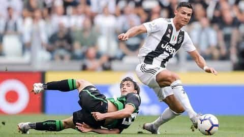 Cristiano Ronaldo scores first fizzbang of his Serie A career