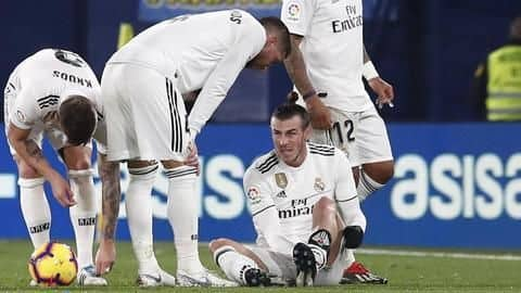 Problems for Real Madrid as Gareth Bale injured again