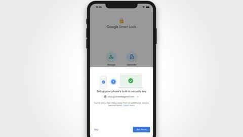 Now, use your iPhone as a Google security key