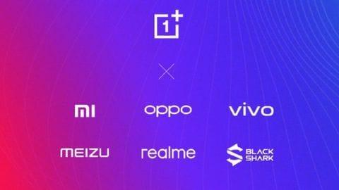 OnePlus, Realme join Xiaomi, OPPO, Vivo's Peer-to-Peer Transmission Alliance