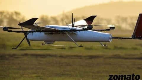 Zomato's drone nails first food delivery test, flying at 80kmph