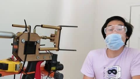 Amid COVID-19, YouTuber makes 'mask gun' to take on anti-maskers