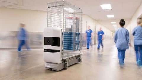 Stanford's new 'smart hospital' has robots, automated guided vehicles