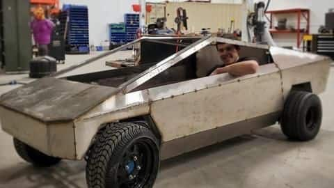 This YouTuber is building a working avatar of Tesla's Cybertruck