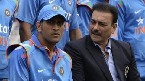 Here's what Ravi Shastri said about MS Dhoni's future