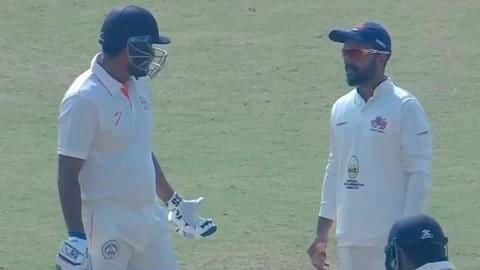 Yusuf Pathan refuses to walk off after incorrect decision