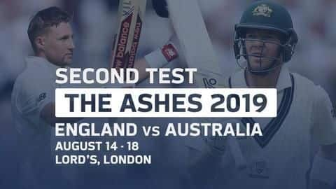 The Ashes 2019, 2nd Test: Match preview and other details