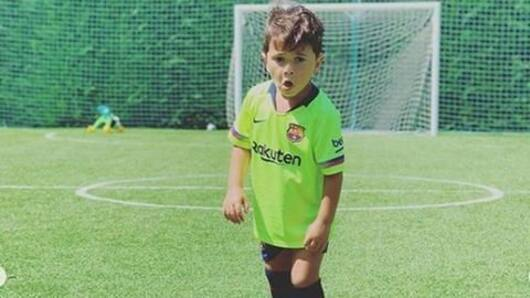 Lionel Messi's son breaks the internet with celebration
