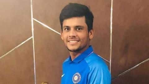Priyam Garg thanks his father after getting U-19 captaincy
