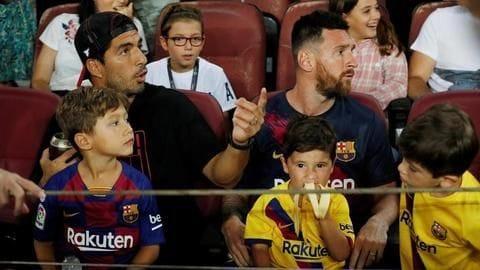 Lionel Messi's son celebrates Real Betis' goal against Barcelona