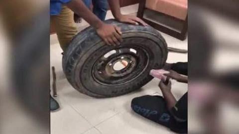 Karnataka: Cash worth Rs. 2.3 crore found inside spare tire