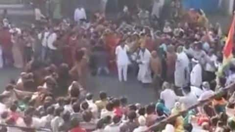 MP: Crowd gathers to welcome monk; social distancing norms violated