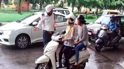 Delhi woman threatens suicide after challan; cops let her go