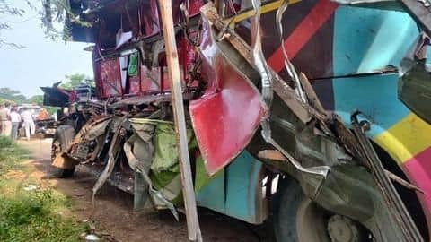 Chhattisgarh: 8 dead as bus carrying laborers collides with truck