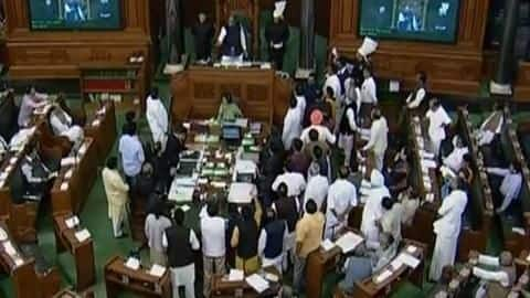 Congress stages walkout in Lok Sabha over electoral bonds