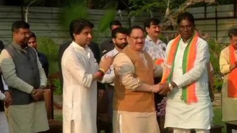 After MP CM Kamal Nath's resignation, rebel MLAs join BJP