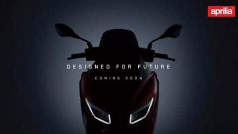 Ahead of launch, Aprilia SXR 160 maxi-scooter teased