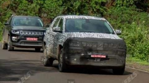 Ahead of launch, 2021 Jeep Compass (facelift) spotted testing